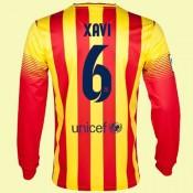 Acheter Des Maillot De Foot Manches Longues Fc Barcelone (Xavi Hernandez 6) 15/16 Extérieur Nike Authentique