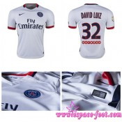 Acheter Maillot Foot Paris Saint Germain David Luiz 2015/16 Extérieur