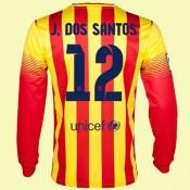 Acheter Un Maillot De Foot Manches Longues (Jonathan Dos Santo 12) Fc Barcelone 2014 2015 Extérieur Pas Cher Nice