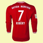 Acheter Un Maillots Manches Longues Bayern Munich (Ribery 7) 2015/16 Domicile Adidas Soldes Nice