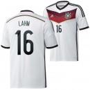 Allemagne Maillot De Football Domicile Coupe Du Monde 2014 Adidas(16 Lahm) Pas Chere