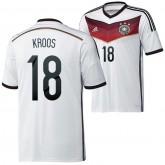Allemagne Maillot De Football Domicile Coupe Du Monde 2014 Adidas(18 Kroos) Hot Sale