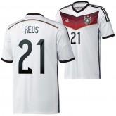 Allemagne Maillot De Football Domicile Coupe Du Monde 2014 Adidas(21 Reus) Pas Cher Paris