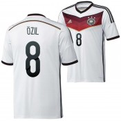 Allemagne Maillot De Football Domicile Coupe Du Monde 2014 Adidas(8 Ozil) France Magasin