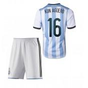 Argentine Maillot De Football Domicile Coupe Du Monde 2014 Adidas+Shorts(16 Kun Aguero)