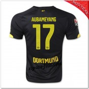 Aubameyang 17 Maillots Borussia Dortmund Extérieur 2014 2015 Fr