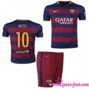 Barcelone Maillot Foot Messi Baby Kits 2015 16 Game Domicile Maillots De Foot Messi 2015 16 Boutique Paris