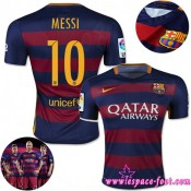 Barcelone Maillot Messi 2015/2016 Game Domicile Maillot Foot Messi 2015/2016 Escompte