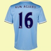 Boutique De Maillot Football Manchester City (Kun Aguero 16) 15/16 Domicile Nike Pas Cher France