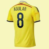 Boutique Maillot Colombie (Aguilar 8) 2014 World Cup Domicile Adidas Nouveau