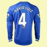 Boutique Maillot De Foot Manches Longues Chelsea (David Luiz 4) 2015/16 Domicile Adidas En Solde