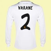 Boutique Maillot Du Foot Manches Longues Real Madrid (Varane 2) 2015/16 Domicile Adidas Vente En Ligne