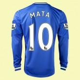 Boutique Maillot Foot Manches Longues (Mata 10) Chelsea 15/16 Domicile Adidas En Ligne Pas Chere