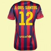 Boutique Maillot Football Femme Fc Barcelone (Jonathan Dos Santo 12) 15/16 Domicile Nike