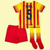 Boutique Maillots Juniors (Carles Puyol 5) Barcelone 2014 2015 Extérieur Soldes France