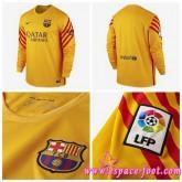 Créer Maillot Foot Barcelone Gardien 2015-2016 Manche Longue Extérieur Soldes