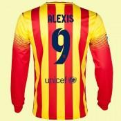Creer Maillot Foot Manches Longues (Alexis Sanchez 9) Fc Barcelone 2015/16 Extérieur Nike Avec Flocage Pas Cher Provence