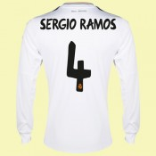 Destockage Maillot De Manches Longues (Sergio Ramos 4) Real Madrid Fc 2014-2015 Domicile Adidas Soldes Fashion