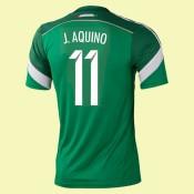 Destockage Maillot Du Foot Mexique (Javier Aquino 11) 2014 World Cup Domicile Adidas