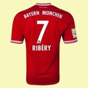 Grossiste Maillot Football (Ribery 7) Bayern Munich 2014 2015 Domicile Adidas Magasin Paris