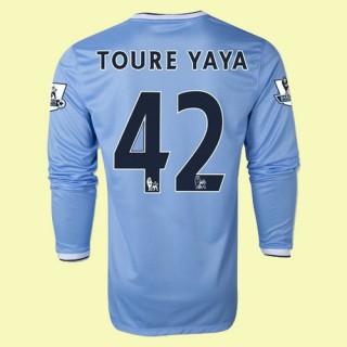 Grossiste Maillot Manches Longues (Toure Yaya 42) Manchester City 15/16 Domicile Magasin De Sortie
