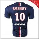 Ibrahimovic 10 Maillot Foot Paris Saint Germain Domicile 2014 2015 Pas Chere