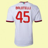 Les Nouveaux Maillot De (Balotelli 45) Milan Ac 2014 2015 Extérieur Avignon