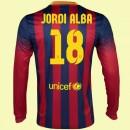Les Nouveaux Maillot De Football Manches Longues Barcelone (Jordi Alba 18) 15/16 Domicile Nike Fr