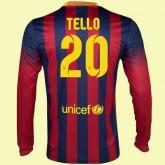 Magasin Maillot De Foot Manches Longues (Tello 20) Fc Barcelone 2014-2015 Domicile Nike Floqué Faire Une Remise