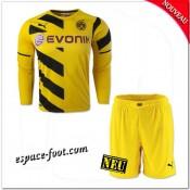 Maillot Borussia Dortmund Enfant Trousse 2014-15 Manche Longue Domicile Vente En Ligne