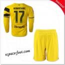 Maillot Borussia Dortmund Enfant Trousse (Aubameyang 17) 2014-15 Manche Longue Domicile France Magasin