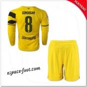 Maillot Borussia Dortmund Enfant Trousse (Gundogan 8) 2014 15 Manche Longue Domicile Boutique En Ligne