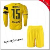 Maillot Borussia Dortmund Enfant Trousse (Hummels 15) 2014 2015 Manche Longue Domicile Boutique Paris