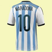 Maillot De Argentine (Maradona 10) 2014 World Cup Domicile Adidas