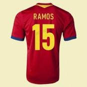 Maillot De Espagne (Ramos 15) 2015/16 Domicile Adidas Soldes Avignon