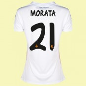 Maillot De Femme Real Madrid (Morata 21) 2014-2015 Domicile Adidas