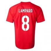 Maillot De Foot 2014/2015 Angleterre Exterieur Coupe Du Monde (8 Lampard)