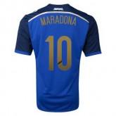 Maillot De Foot 2014/2015 Argentin Exterieur Coupe Du Monde (10 Maradona)