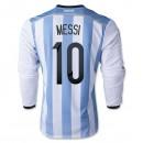 Maillot De Foot 2014/2015 Argentine Domicile Manche Longue Coupe Du Monde (10 Messi)