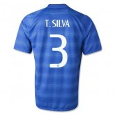 Maillot De Foot 2014/2015 Bresil Exterieur Coupe Du Monde (3 T.Silva) Site Officiel France