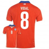 Maillot De Foot 2014/2015 Chile Domicile Coupe Du Monde (8 Vidal) Europe