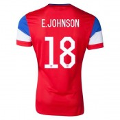 Maillot De Foot 2014/2015 Etats-Unis Exterieur Coupe Du Monde (18 E.Johnson)
