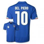 Maillot De Foot 2014/2015 Italie Domicile Coupe Du Monde (10 Del Piero)