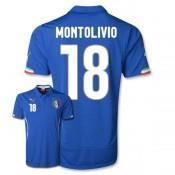 Maillot De Foot 2014/2015 Italie Domicile Coupe Du Monde (18 Montolivio)