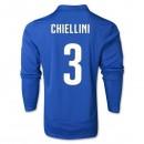 Maillot De Foot 2014/2015 Italie Domicile Manche Longue Coupe Du Monde (3 Chiellini)