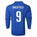 Maillot De Foot 2014/2015 Italie Domicile Manche Longue Coupe Du Monde (9 Bolotelli)