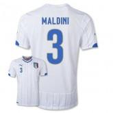 Maillot De Foot 2014/2015 Italie Exterieur Coupe Du Monde (3 Maldini)