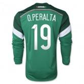 Maillot De Foot 2014/2015 Mexique Domicile Manche Longue Coupe Du Monde (19 O.Peralta)