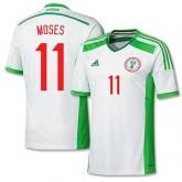 Maillot De Foot 2014/2015 Nigeria Exterieur Coupe Du Monde (11 Moses) Pas Cher Lyon