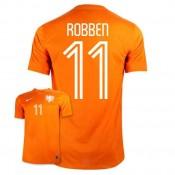 Maillot De Foot 2014/2015 Pays-Bas Domicile Coupe Du Monde (11 Robben)